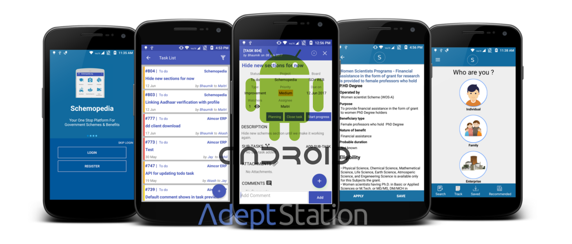 Android App development by Adeptstation